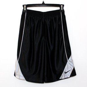 Boys' Nike Black and Silver Basketball Shorts